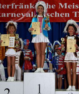 UfrTurnierJunior 01 Siegerehrung Tanzmariechen