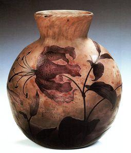Daum - Vase aux lys tigrés360