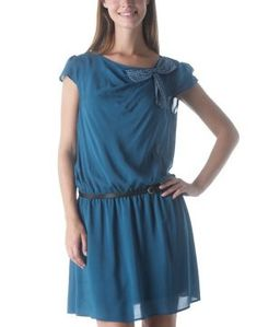 robe-legere-ceinturee-bleu-canard-promod 29.95