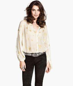 blouse en soie hm 39.95