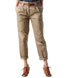 pantalon--carrot--en-toile-beige-promod 34.95