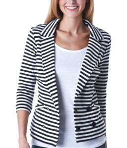 veste-de-tailleur-en-jersey-raye-marine-promod 44.95