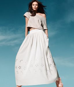 jupe blanche h&m 1