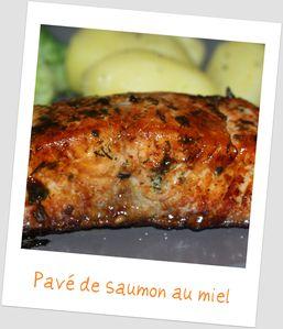 Saumon au miel la cuisine quotidienne - Comment cuisiner des paves de saumon ...