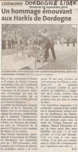 Dordogne Libre 26-09-2014