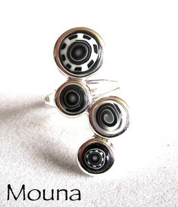 Bague Noir et blanc 5 DISPONIBLE: 15 euros.