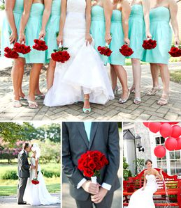 balloons-red-and-teal-wedding-colors-jcrew-bridesmaid-dress.jpg
