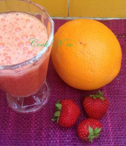 Smoothie fraise/orange