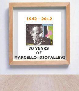 Francobollo di Marcello Diotallevi, Italia