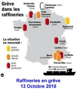 Raffineries greve Octobre 2010