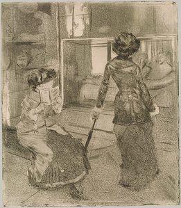 Mary Cassatt au Louvre 1879–80 par Edgar Degasjpg