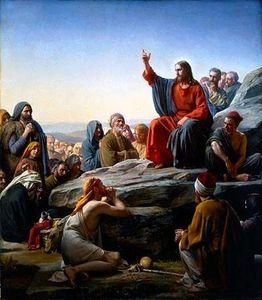 Jésus proclame les Béatitudes.