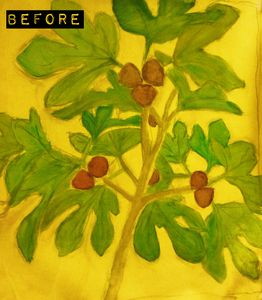 fig leaves first step oil painting before. Le blog peinture de carole.