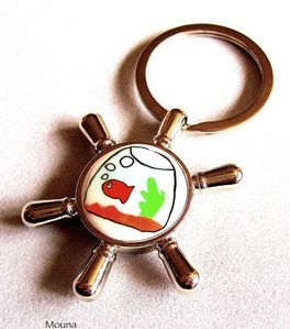 Porte-clefs Albert le poisson rouge 1 DISPONIBLE: 15 euros.