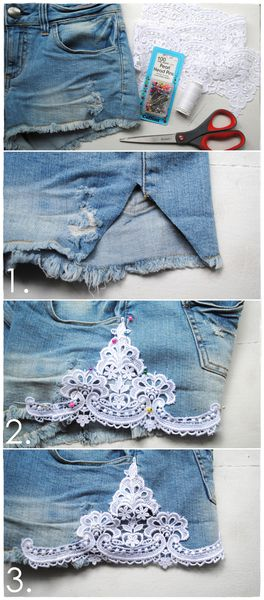 Short Dentelle DIY