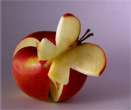 food-art- dessert - pomme papillion