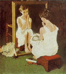 Fillette au miroir-1954