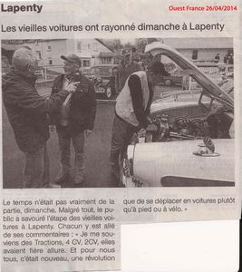 Ouest France 26 Avril 2014