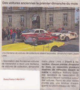 Ouest France 5 Mai 2014