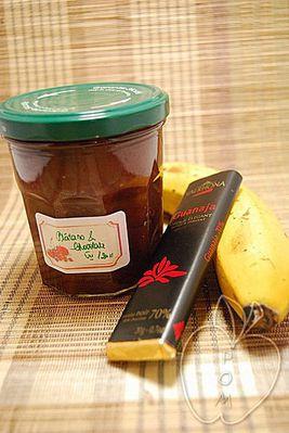 Mermelada de plátano y chocolate (1)