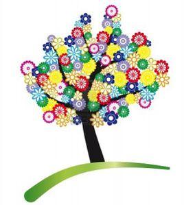 9667987-arbre-stylise-avec-des-fleurs-colorees-de-feuillage