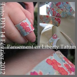 pansement en liberty TUTO