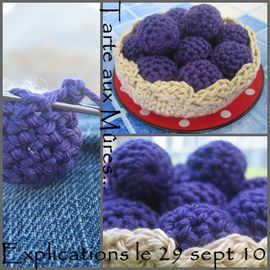 dinette crochet tarte mures