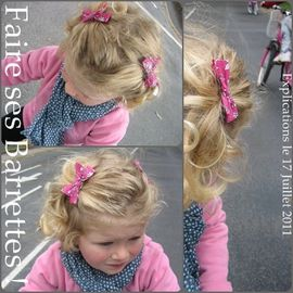 barrette noeud tuto