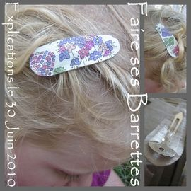 faire ses barrettes