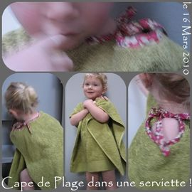 poncho de plage
