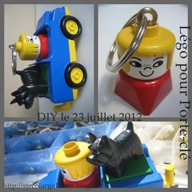 porte cl ENFANT TUTO DIY LEGO DUPLO