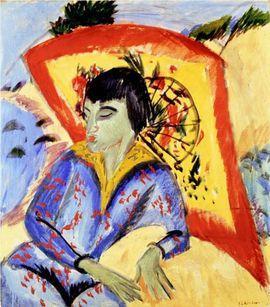 115 ATTITUDE Kirchner 1913 japanese Aargauer Kunsthaus Aarg
