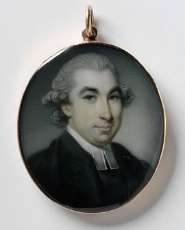 10a Miniature 1775 Crosse Richard clergyman 38x32 aquarelle