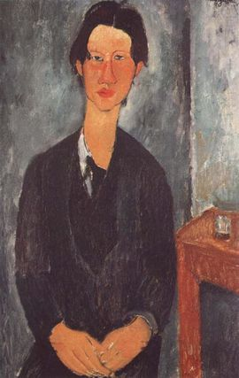 9973 Portrait Soutine 1917 Modigliani national gallery of a