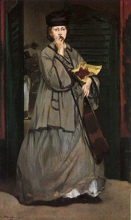 4 Manet 1862 La chanteuse de rue Musée BA Boston
