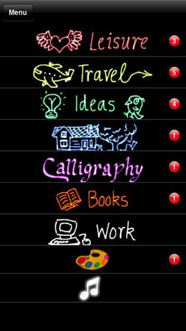 categorized iphone notes
