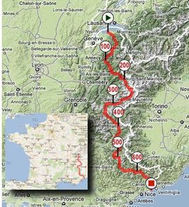 Alps map bing images for Haute route des alpes