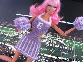 Tricot Barbie, robe pompom girl - 05.06.11 - 02