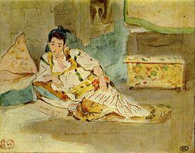 Delacroix maroc belle
