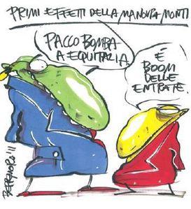 vignetta sulla manovra Monti