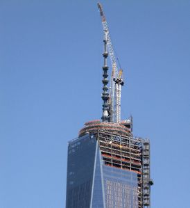 New York - 1 WTC - Freedom Tower - Flêche - Mai 2013