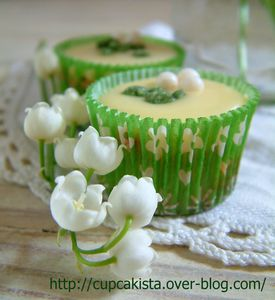 Mini Lily of the Valley Inspired Cupcakes -1