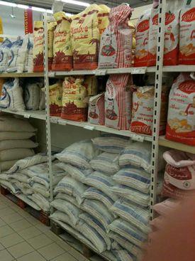 Maroc supermarche farine semoule