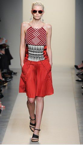 bottega veneta red dress