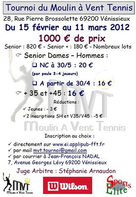 Affiche Tournoi Open 2012