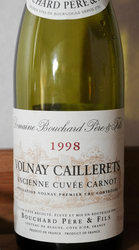 volnay caillerets cuvée carnot 1998 bouchard