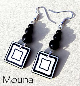 Boucles Black & white 3 DISPONIBLE: 13 euros.