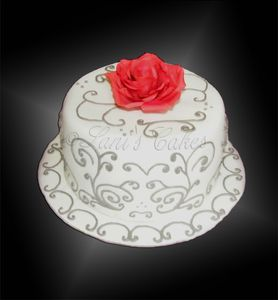 Decor Arabesque Rose Gateau