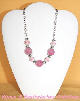 Colliers perles & métal 6753
