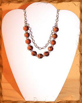 Colliers perles & métal 6209